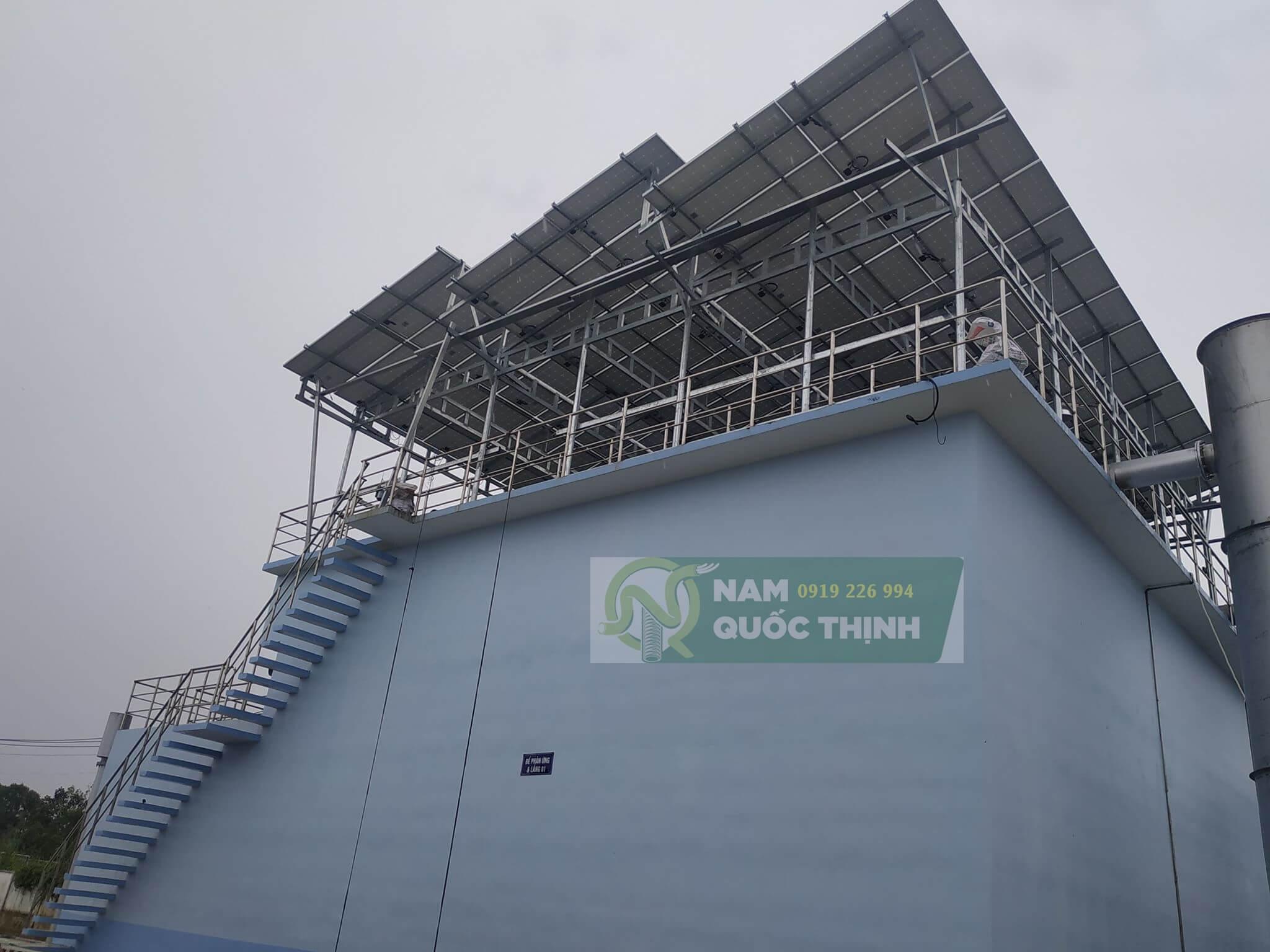 Thanh u lắp đặt support năng lượng mặt trời nhà máy nước