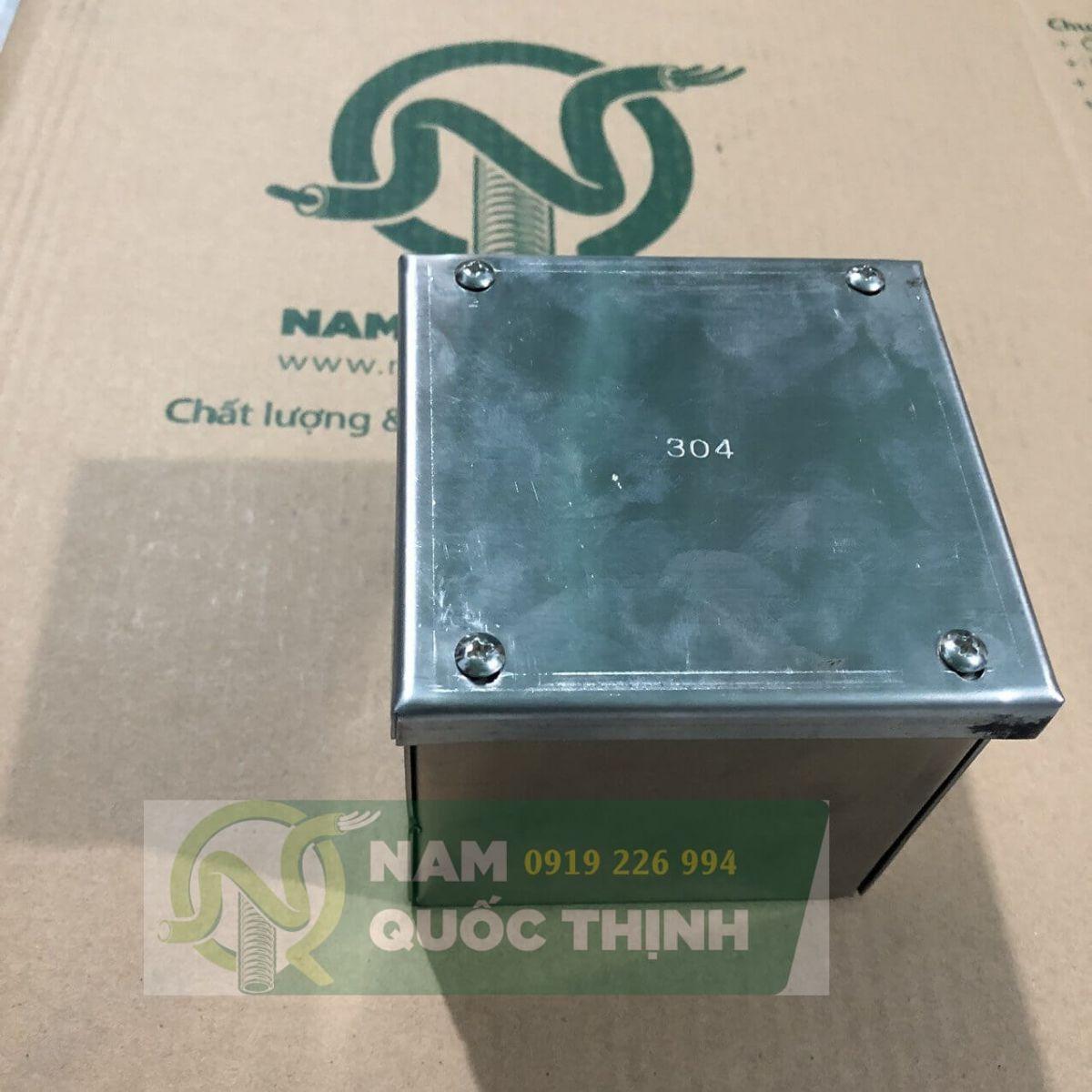 Pullbox inox 304 100x100x100