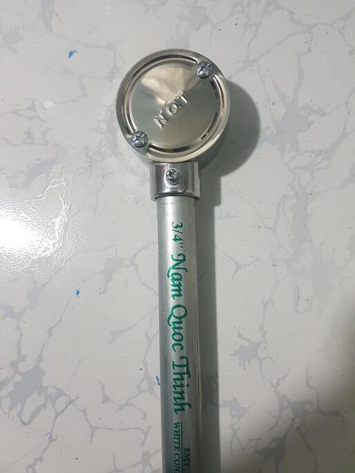 Hộp nối 1 ngã trơn emt ống thép luồn dây điện