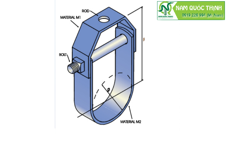 kẹp treo ống clevis D27