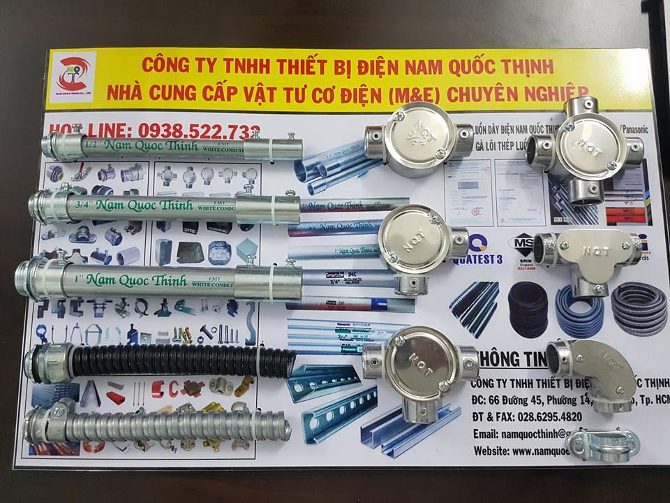 Bảng mẫu ống thép luồn dây điện EMT và phụ kiện
