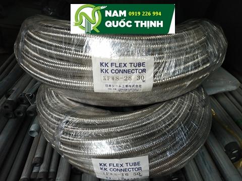 Ống ruột gà thép bọc lưới inox 304