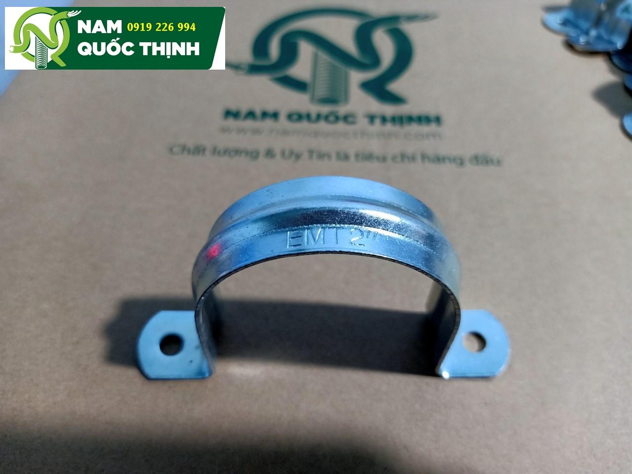 Kẹp omega giữ ống thép luồn dây điện trơn không đế 2