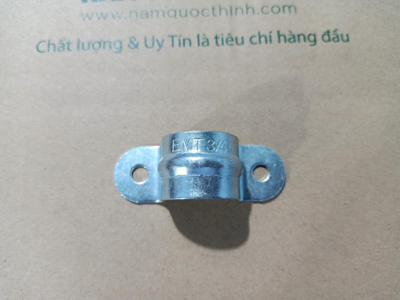 Kẹp ống thép luồn dây điện trơn phi 25 không đế 2 lỗ