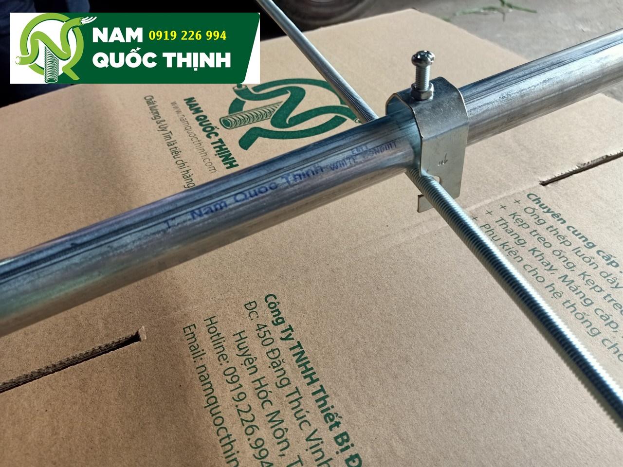 Lắp đặt kẹp treo ty ren và ống thép luồn dây điện 2